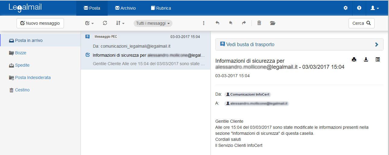 archivio legalmail